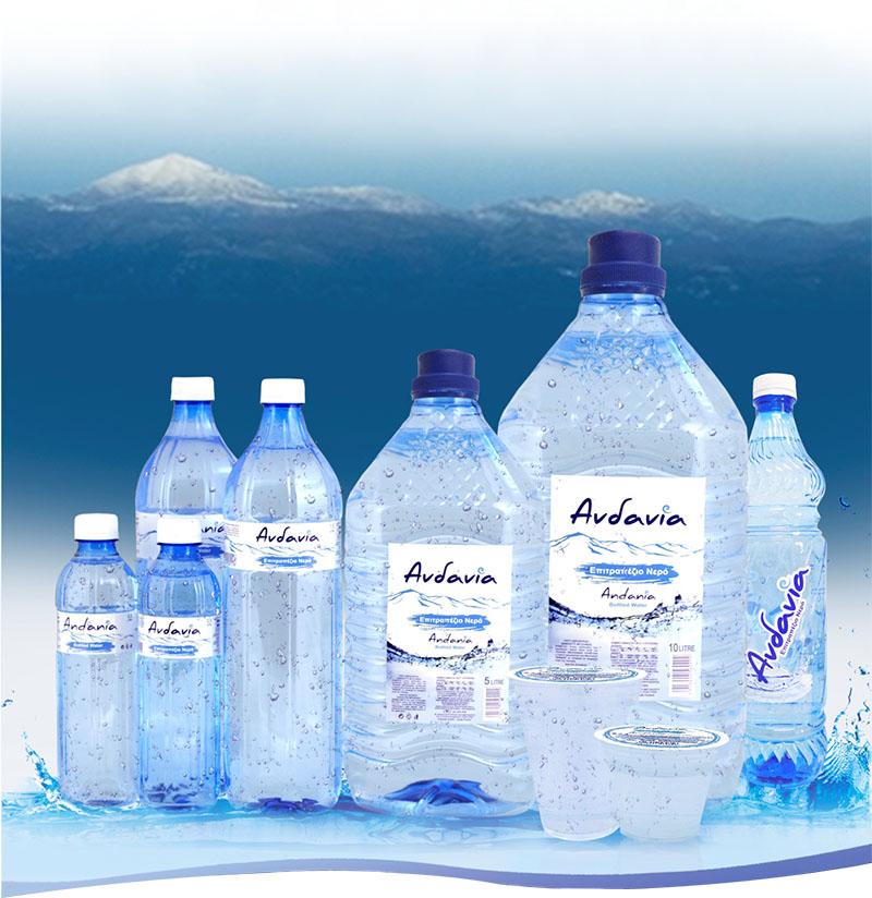 Ανδανία - Εμφιαλωμένο Αρτεσιανό νερό Μεσσηνίας - Προϊόντα