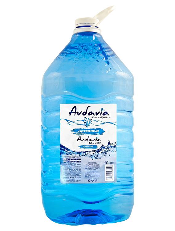 Ανδανία - Εμφιαλωμένο Αρτεσιανό νερό Μεσσηνίας - Συσκευασία 10 lt με βαλβίδα
