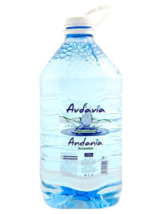 Ανδανία - Εμφιαλωμένο Αρτεσιανό νερό Μεσσηνίας - 5 lt